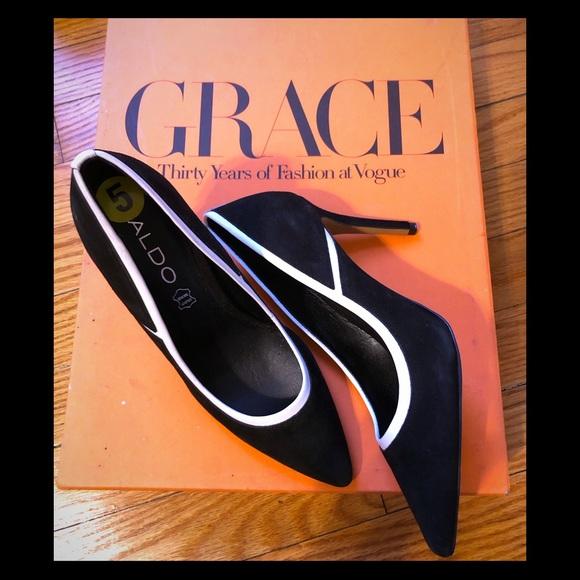 Aldo Shoes - Aldo Heels   Black w. White Trim